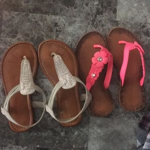 Other - 2 pairs girls sandals